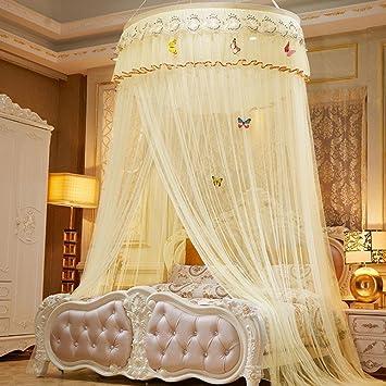 CHENG YUAN Elegante Spitze Insekt Bett Baldachin Vorhang Vorhang Runde Dome  Moskitonetz Bettwäsche Prinzessin Netting Dekoration
