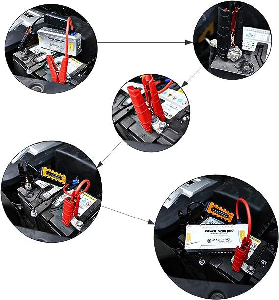 AFTERPARTZ DO-06 20000mAh 1000A para Todos los Motores, Notstart, Salida de tensión de 12 V-16 V, PowerBank, Cable de Arranque con Sistema de protección: Amazon.es: Coche y moto