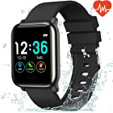 L8star Fitness Tracker Heart Rate Monitor-1.3'' Large Color Screen IP67 Waterproof Activity Tracker with 6 Sports Mode…