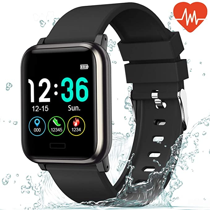 L8star Fitness Tracker Heart Rate Monitor-1.3'' Large Color Screen IP67 Waterproof Activity Tracker with 6 Sports Mode,Sleep Monitor,Pedometer Smart Wrist Band for Women Men, Android iOS best fitness tracker watch