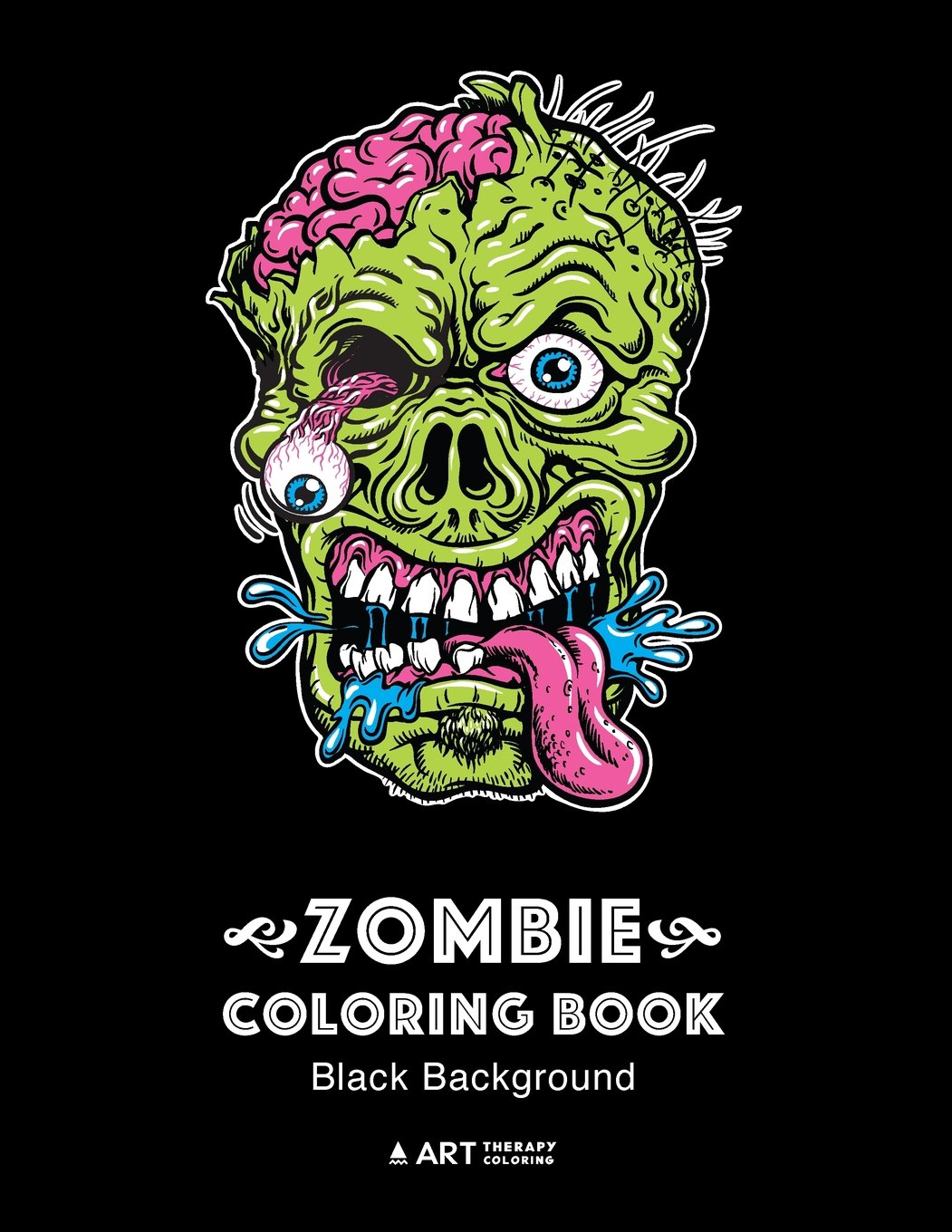 Amazon.com: Zombie Coloring Book: Black Background: Midnight Edition ...