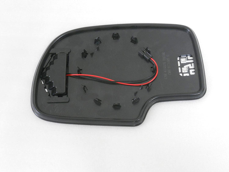 CMB-B734RH-S HEATED mirror glass LED Turn Signal PASSENGER SIDE GMC Chevy Caddy