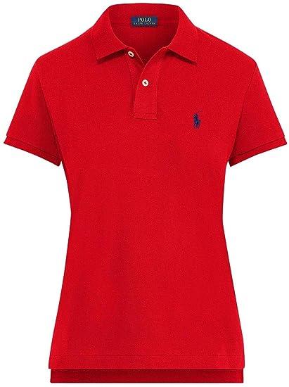 Ralph Lauren Polo Shirt Ladies Skinny Fit Solid Malla: Amazon.es ...