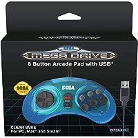 Retro-Bit Official SEGA Mega Drive 8-button Arcade USB Pad Blue [Importación inglesa]