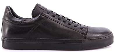 64558b7cc23 BELSTAFF Men's Shoes Sneakers 77800201 Wanstead Low Sneakers Man Black  Leather