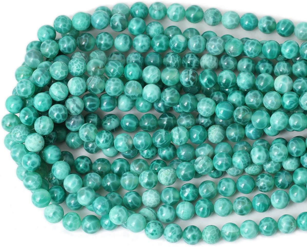 Qiwan 60PCS 6mm Polychrome Natural ite  Dull Polish Gemstone Round Loose Beads for Jewelry Making 1 Strand 15?