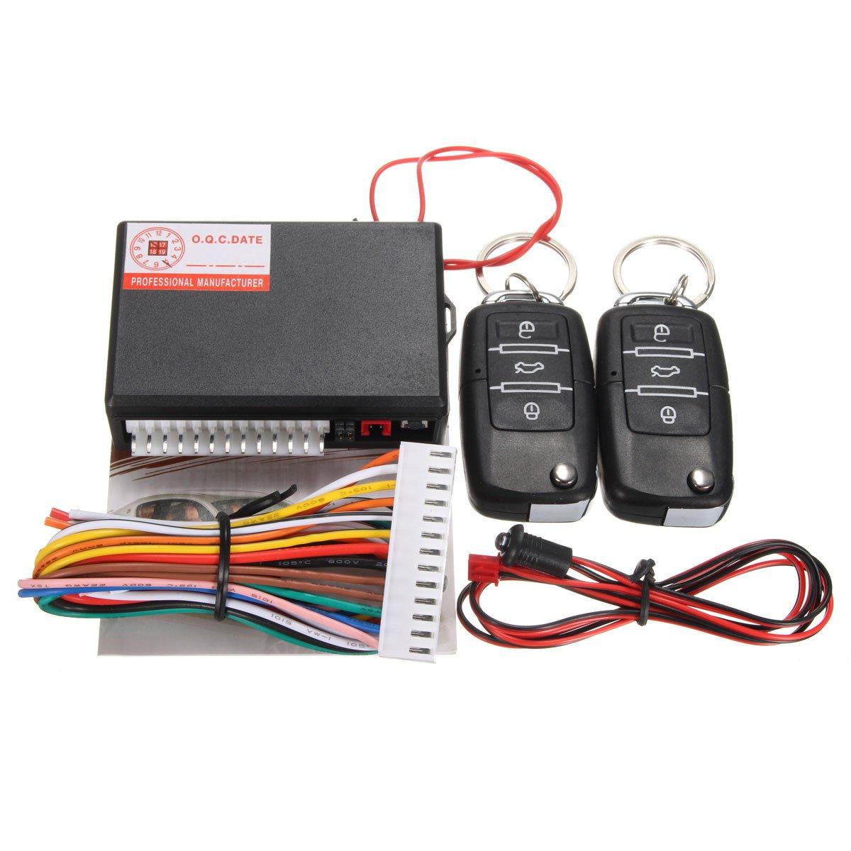 Professional Car Central Locking Lock System Flip Key Hyundai Getz Wiring Diagram Generic Remote Control Kit Door Keyless Entry Universal One Piece