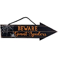 DII Indoor and Outdoor Wood Fall Halloween Hanging Door Decorations and Wall Signs, Haunted House Decor, for Home…