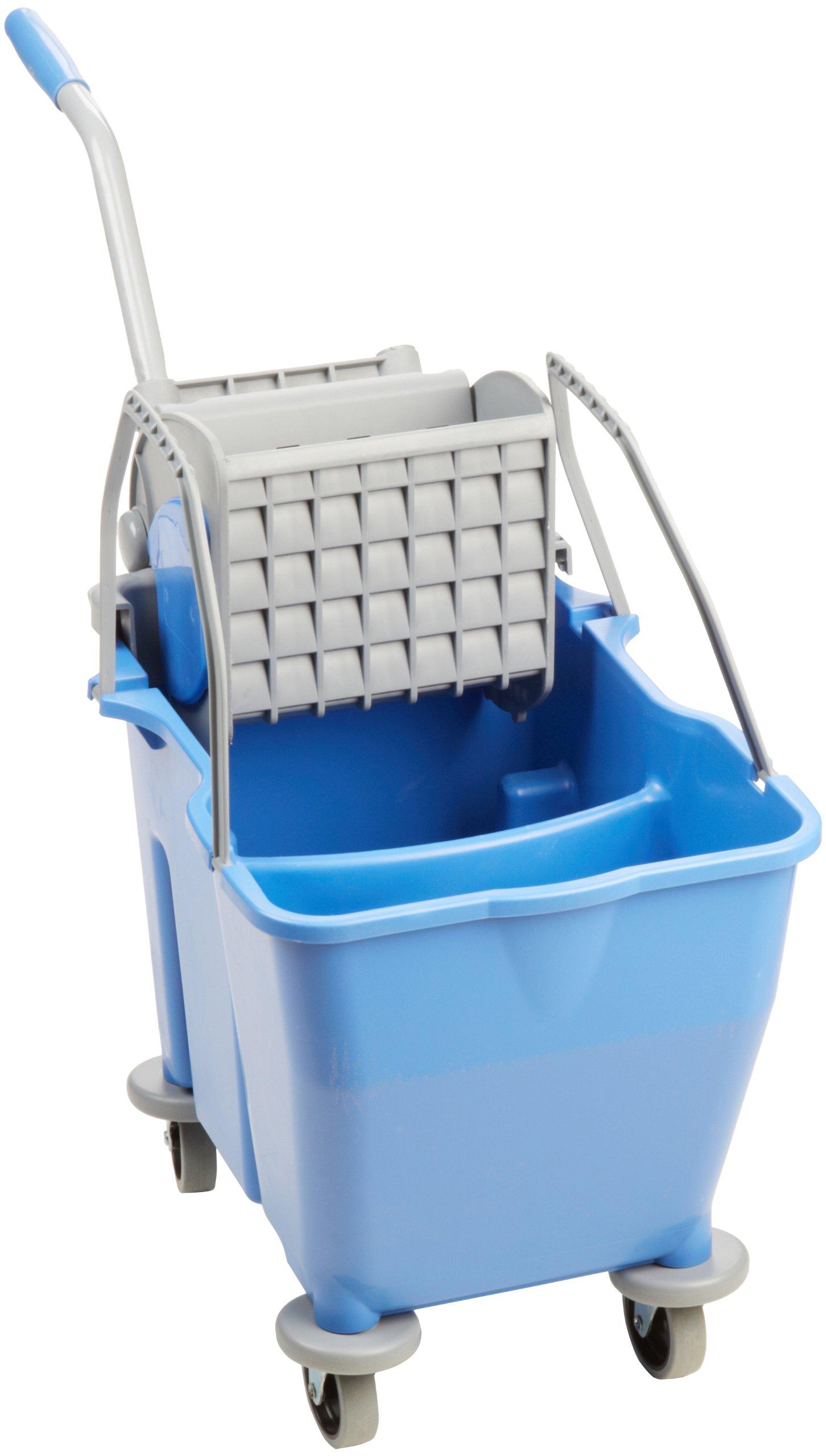 O'Dell 30 QT. Dual Chamber Bucket, Blue, Side Press Wringer MWMF30B-SP