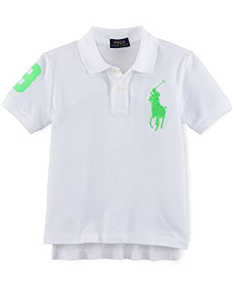 Ralph Lauren Boys Big Pony Cotton Mesh Polo Shirt (3/3T)