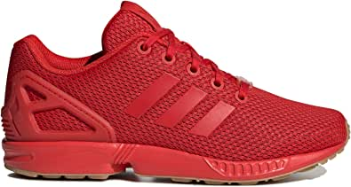 Amazon.com   adidas Kids Boys Zx Flux J Sneakers Shoes - Red ...