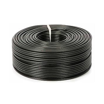 AGFRI RG-59/96 - Bobina de Cable coaxial, Color Negro
