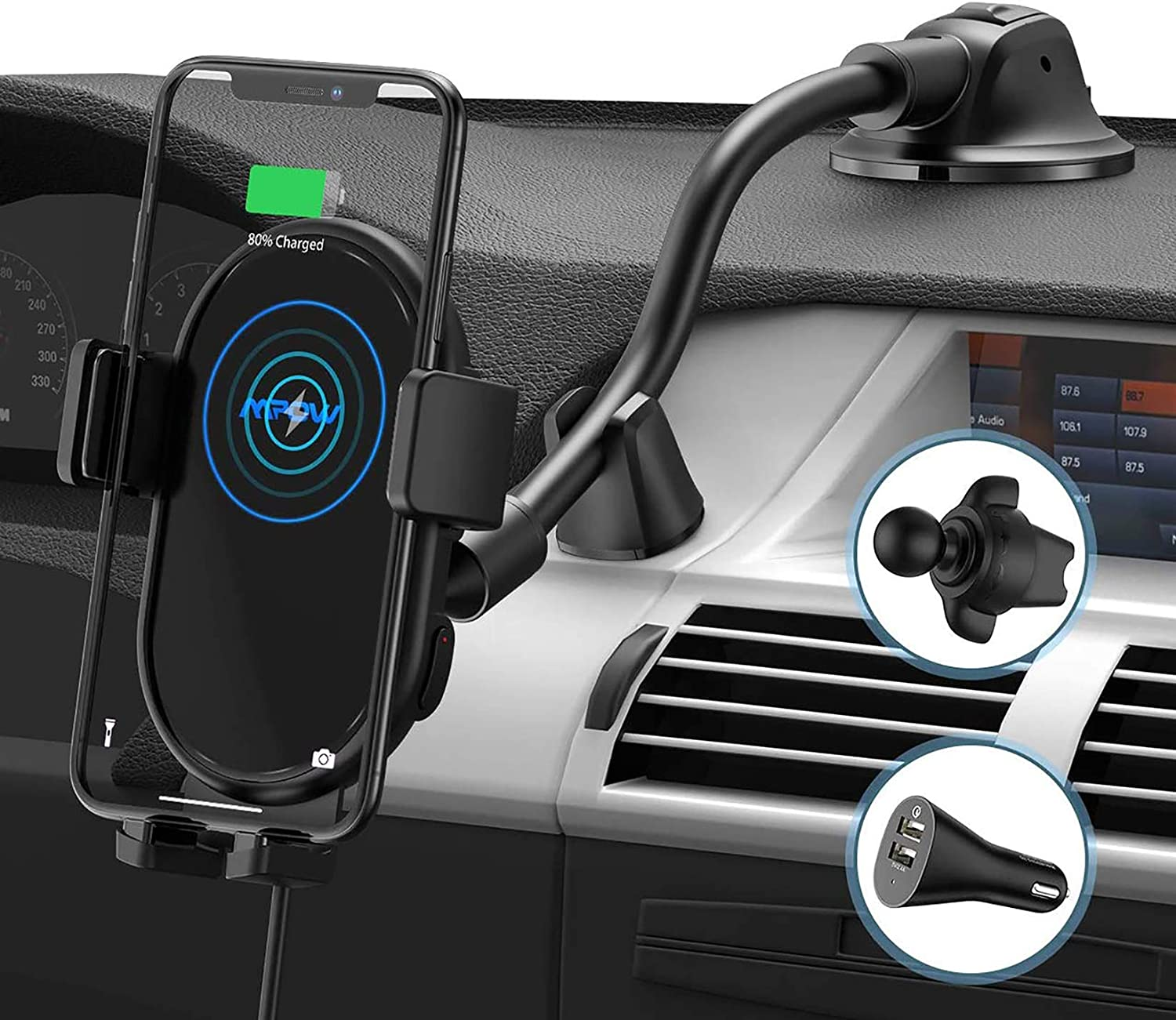 Mpow Car Wireless Charger, Qi Car Charger
