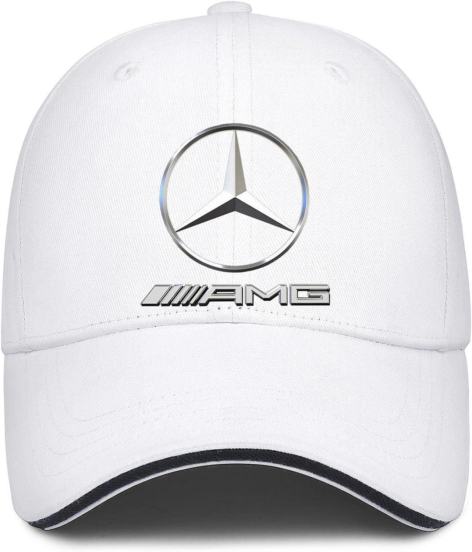 Mens Womens Dad Hat Mercedes-AMG-Logo Snapback Casual Sandwich Cap