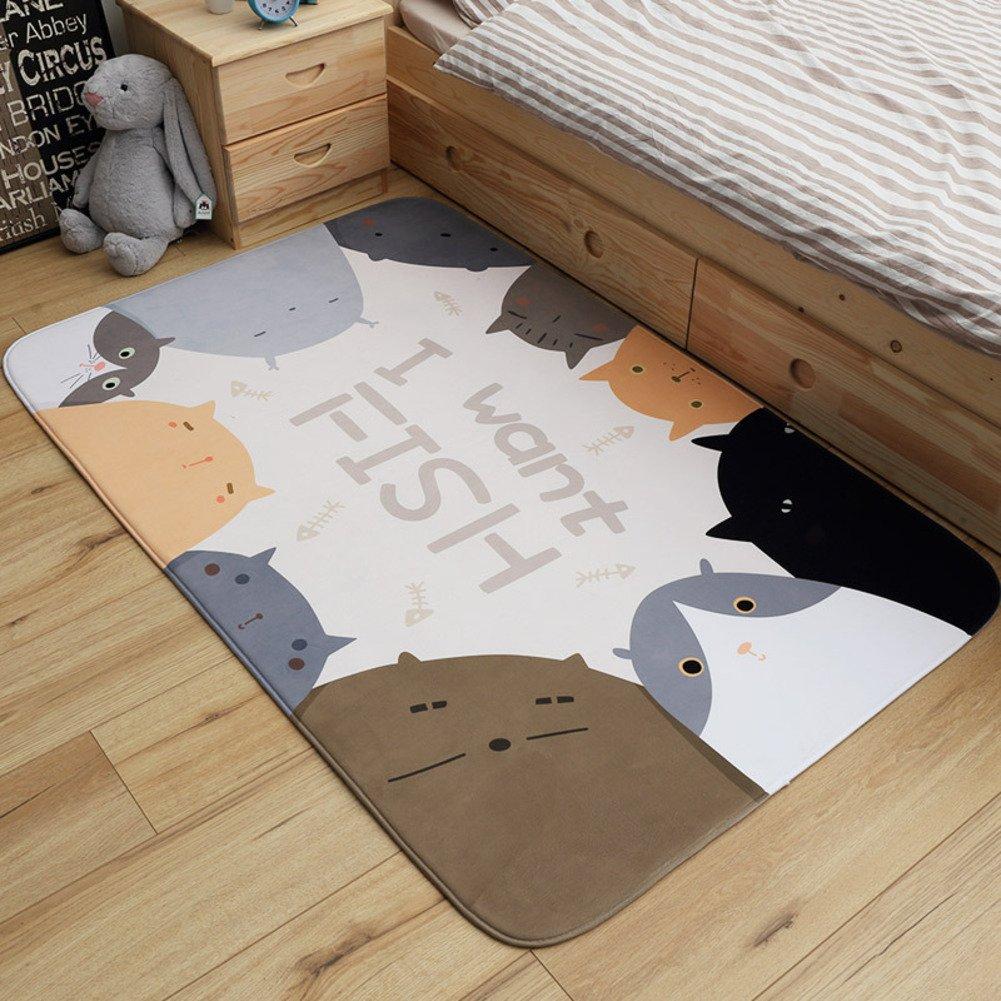 子供の漫画広場マット 赤ちゃんマットをクロール 子供滑り止めプレイマット リビングで使用します。,ベッド,キッチン,バスルーム,クローゼットの中,シューズ ラック-B 150x200cm(59x79inch) 150x200cm(59x79inch) B B07D5T4Q4G