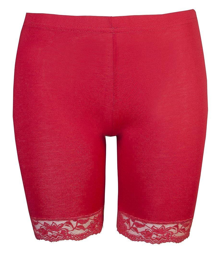 Love Lola Cycliste stretch avec bord en dentelle pour femme  Amazon.fr   Vêtements et accessoires 7860aed09cf