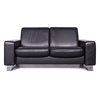 Amazon.com: Stressless Space Designer Leather Sofa Black ...