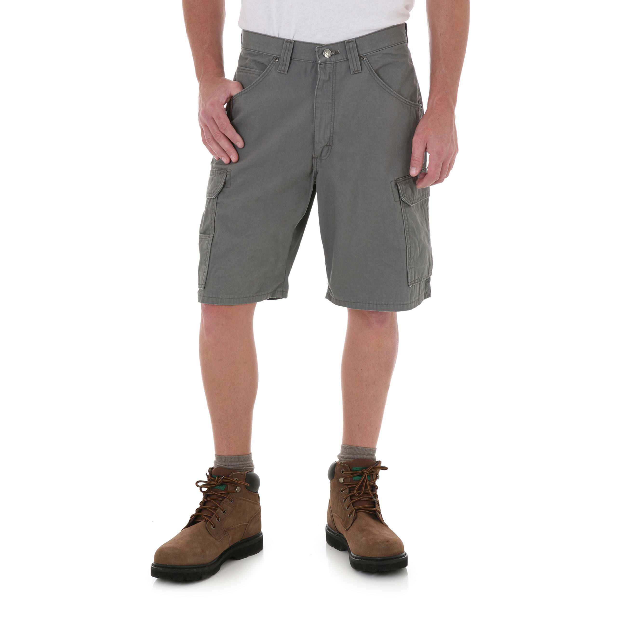 RIGGS WORKWEAR by Wrangler Men's Ripstop Ranger Short, Slate, 36