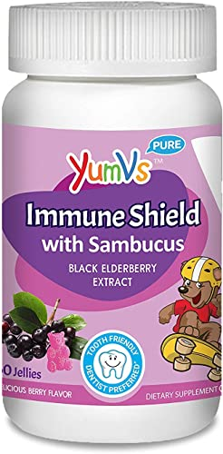 Yum V s Immune Shield with Sambucus Yummy Berry – 60 Jellies