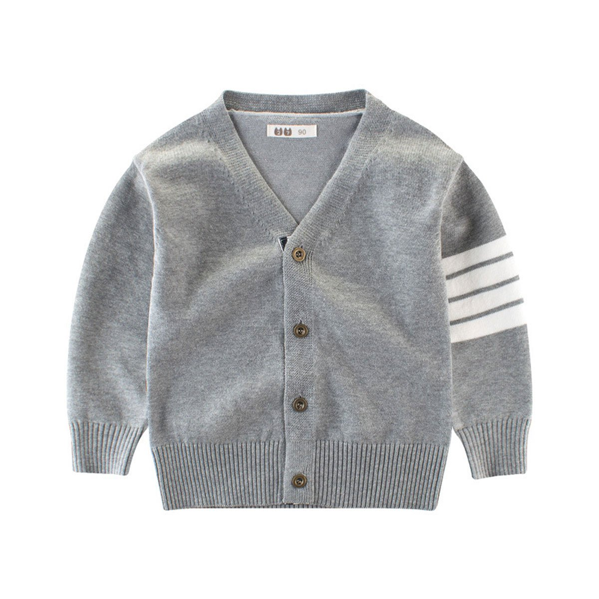 LANMWORN Baby Boys Girls V Neck Sweater Cardigan,Toddler Boys Fashion Long Sleeve 2 Color Warm Button Knitwear Outwear.