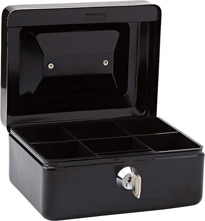 Rapesco SB0006B1 - Caja fuerte portátil con portamonedas interior, de 15 cm de ancho: Amazon.es: Oficina y papelería