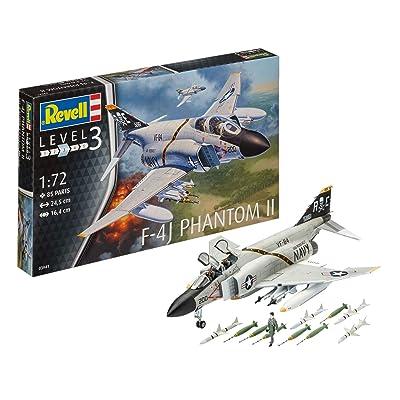 Revell of Germany 03941 F-4J Phantom Ll Building Kit: Toys & Games