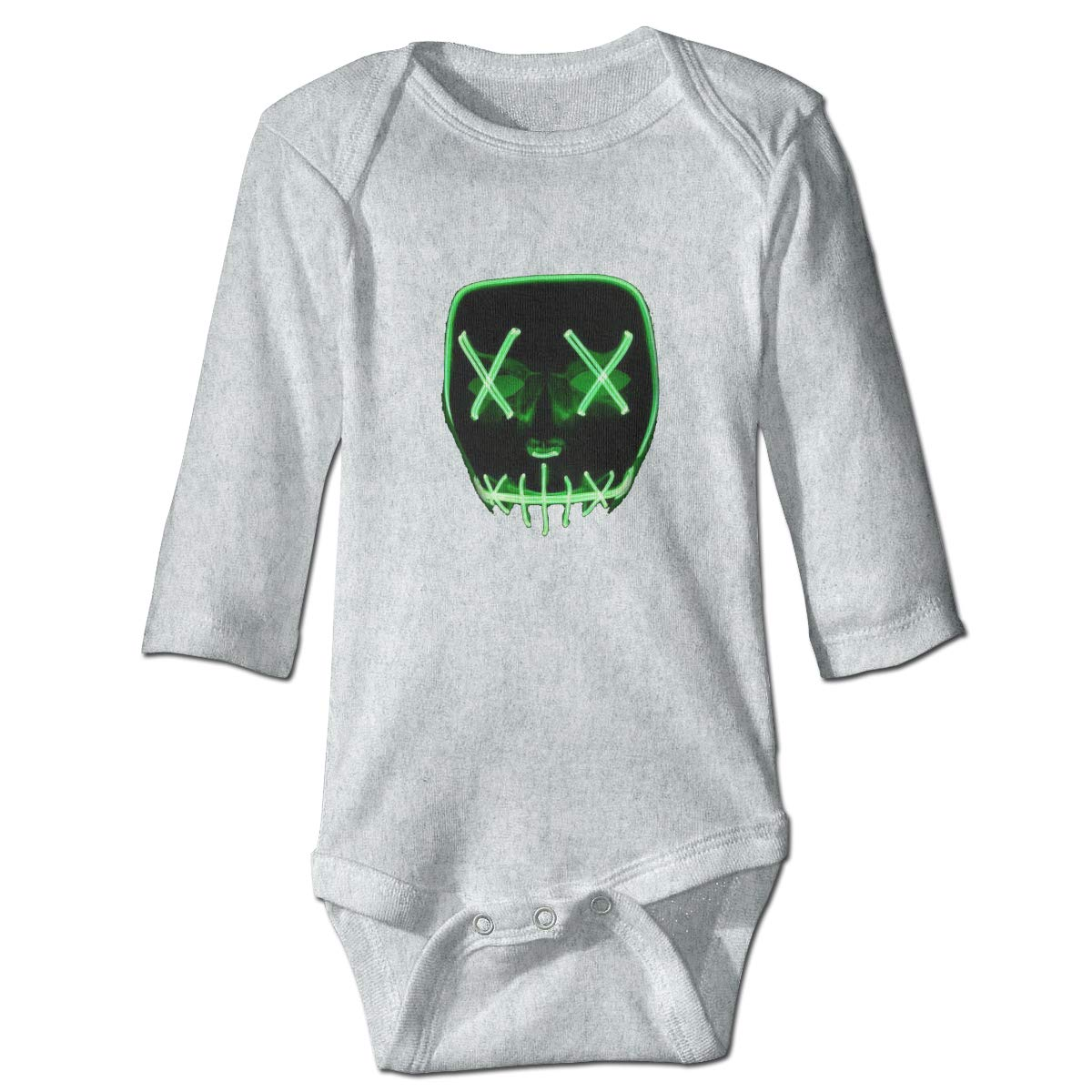 Mischief Mask Retro Newborn Baby Long Sleeve Bodysuit Romper Infant Summer Clothing