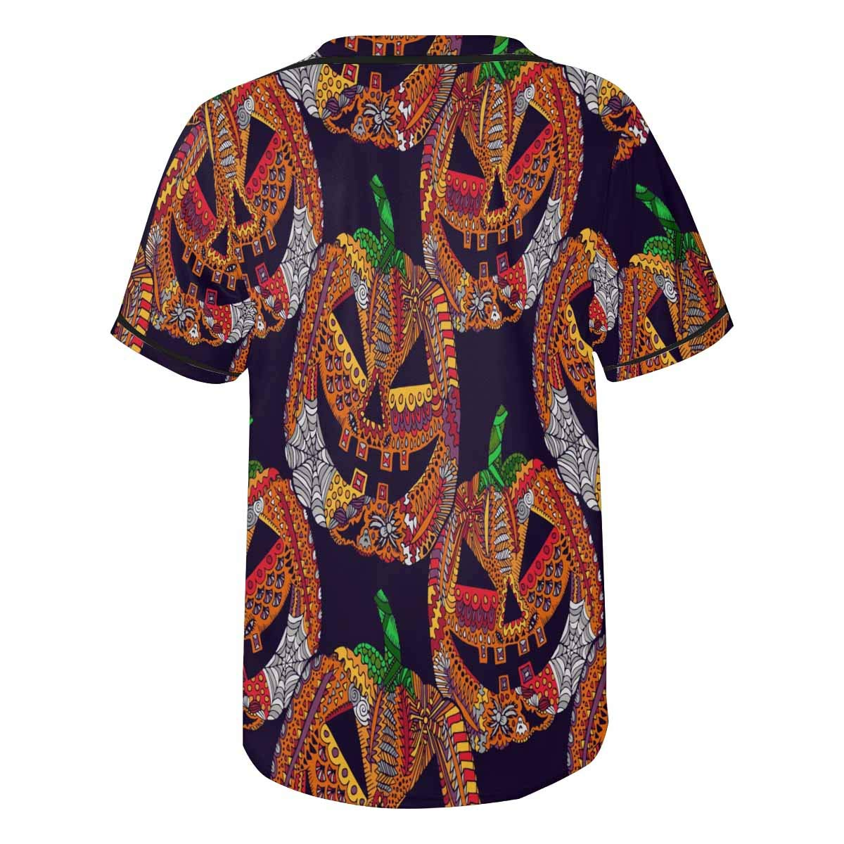 INTERESTPRINT Mens Hipster Hip Hop Button-Down Baseball Jersey Short Sleeve Shirt