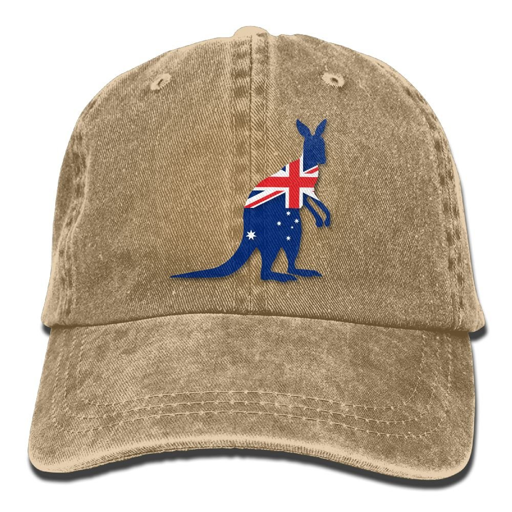 Cowboy Baseball Caps Unisex Trucker Style Hats Flag Of Australia With Kangaroo