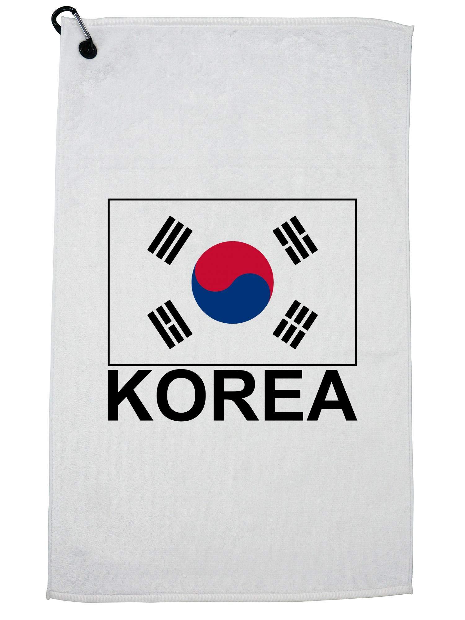 Hollywood Thread Korea Flag - Special Vintage Edition Golf Towel with Carabiner Clip