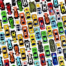 Prextex 100 Pc Die Cast Toy Cars Party Favors Easter Eggs Filler or Cake Toppers Stocking Stuffers Cars Toys for Kids