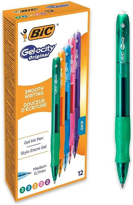 Oferta amazon: BIC Gel-ocity Original - Caja de 12 unidades, bolígrafos de Gel, colores surtidos