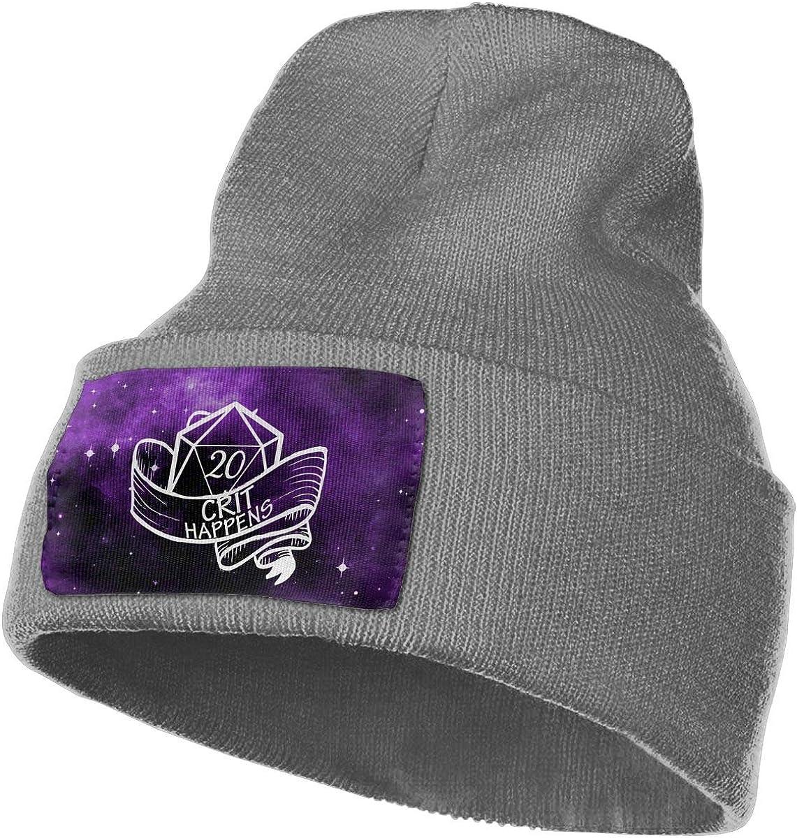 Helidoud Crit Happens Winter Beanie Hat Knit Hat Cap for for Men /& Women