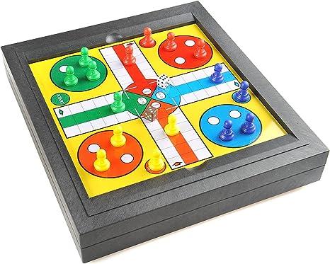Quantum Abacus Monaco Magnetic Series: Ludo Juego, Juego de Mesa magnético , tamaño Grande para el hogar: Dimensiones 31 x 28 x 5 cm, Mod. SC8278 DE: Amazon.es: Juguetes y juegos