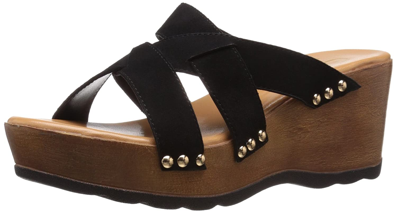 Callisto Women's Syrah Wedge Sandal B010M399HE 9 B(M) US Black