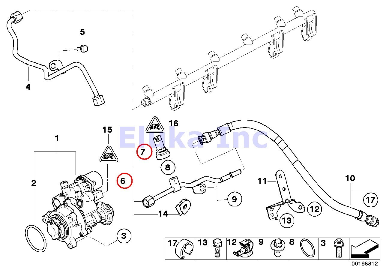 Bmw Genuine Fuel Injection Pressure Sensor Low Pump Diagram 535i 535xi X6 35ix 135i M Coup 335i 335xi