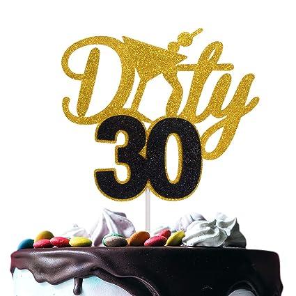 Cool Novelty Dirty 30 Birthday Cake Topper Fabulous Thirty Years Birthday Cards Printable Giouspongecafe Filternl