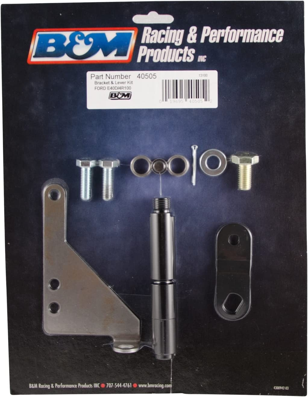 B/&M 40505 Bracket and Lever Kit for Ford E40D//4R100 Automatic Transmissions