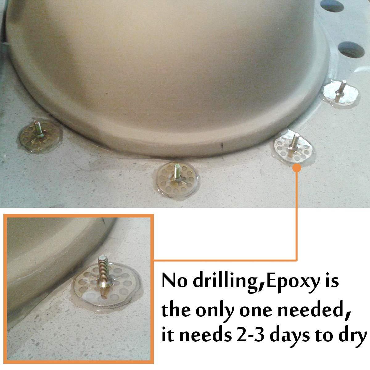 Undermount Sink Clips, Sink Brackets, Epoxy Sink Clips - 10 Pack Kit -  Kitchen & Bathroom Sink Supports