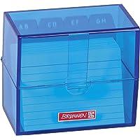 Brunnen 102058033 - Tarjetero (poliestireno, 8,5 x 7,5 x 4,8 cm, para tarjetas A8), color azul