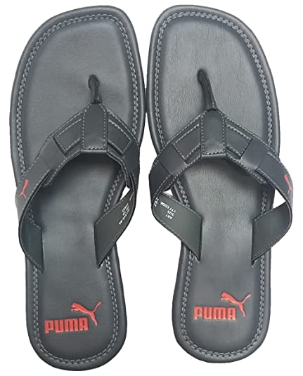 fb36a69040c34 Puma Men s Weave IDP H2T Dark Shadow and High Risk Red Hawaii Thong Sandals  - 11