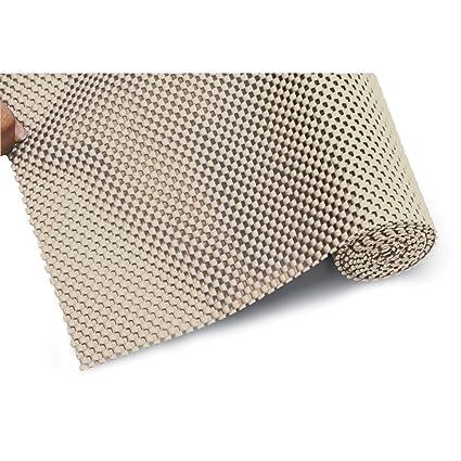 Freelance Vinyl Non Adhesive Anti Slip Shelf & Drawer Cushion Grip Liner Mat & Protector, Small, Beige