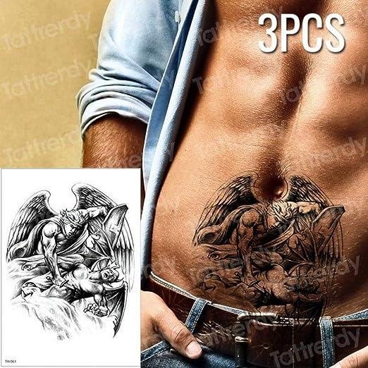 Handaxian 3pcs Tatuaje Chino dragón Negro Bosquejo Tatuaje patrón ...