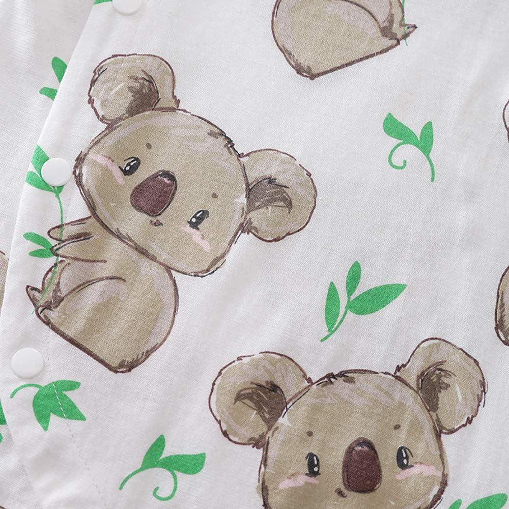 Beal Shopping Newborn Baby Boy Girl Romper Small Toddler Cute Koala Print Summer Long Sleeve Jumpsuit Clothes