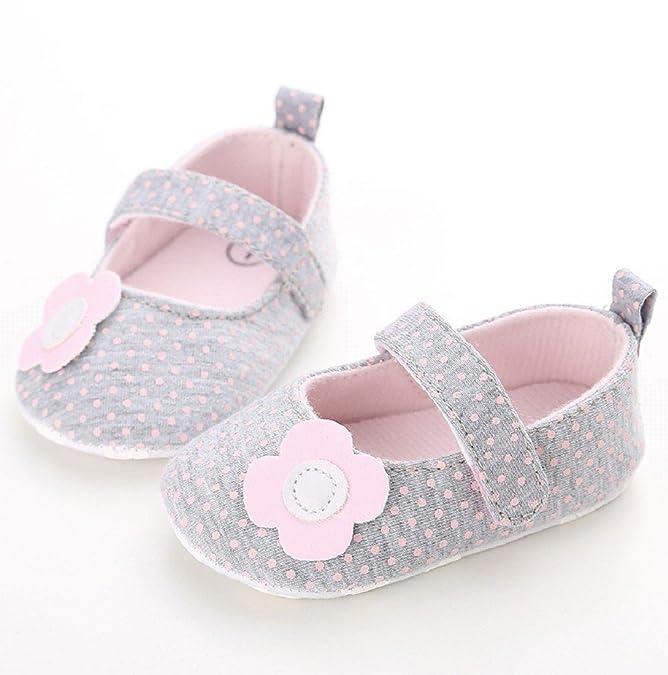 Fossen Zapatos Bebe Ni/ña Primeros Pasos Recien Nacido Princesa Zapatos Antideslizantes de Suela Blanda