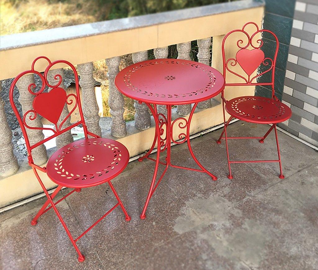 Gartenmöbel Sets Bügeleisen Tische und Stühle Outdoor