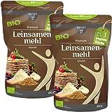 2 x borchers Bio Leinsamenmehl | Goldleinsaat | Von Natur aus Ballaststoffreich | Hoher Eiweißgehalt | Vegan | 400 g