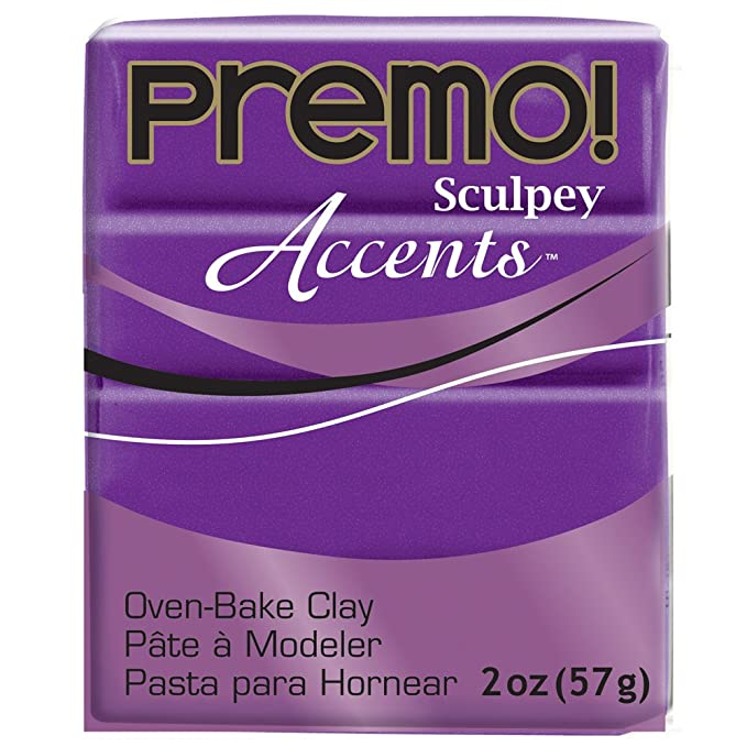 Premo Sculpey Polymer Clay 2 Ounces-Purple Pearl