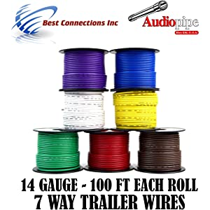 Remarkable Amazon Com Trailer Light Cable Wiring Harness 50Ft Spools 14 Gauge Wiring Cloud Usnesfoxcilixyz