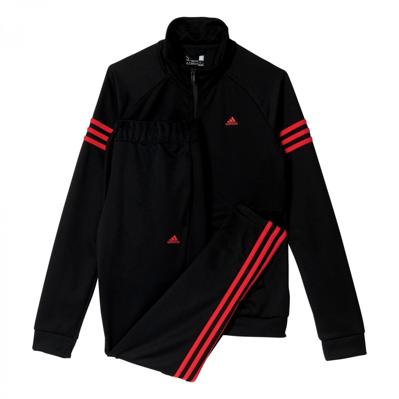 adidas Teamsport Suit Chandal, Mujer, (Negro/Rojray), XL: Amazon ...